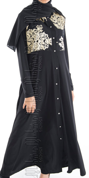Limited Edition Faiza open abaya (Gold) - Muhmin1