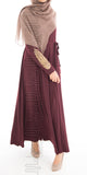 Imani Embroidered Dress (Plum)