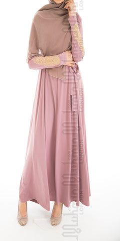 Imani Embroidered Dress (Pink Rose) - Muhmin1