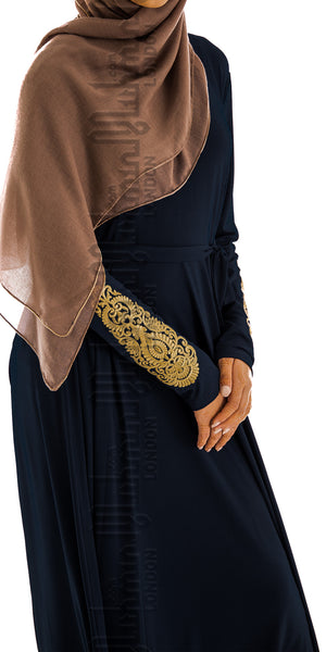 Imani Embroidered Dress (Navy) - Muhmin1