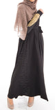 Imani Embroidered Dress (Black)