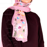 Embroidered Hijab (Candy Pink) - Muhmin1