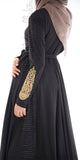 Imani Embroidered Dress (Black) - Muhmin1