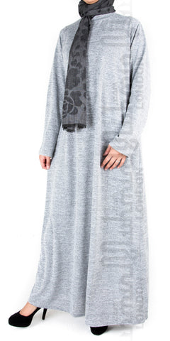 Anum Polo Neck Dress (Grey)