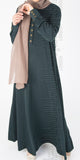 Roha abaya (Bottle Green) - Muhmin1