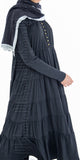 Naimah Tiered Dress (Black) - Muhmin1