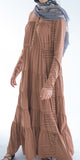 Naimah Tiered Dress (Caramel) - Muhmin1