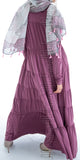 Naimah Tiered Dress (Mauve) - Muhmin1