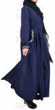 Zaynah Pleated Abaya (Navy) - Muhmin1
