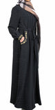 Zaynah Pleated Abaya (Black) - Muhmin1