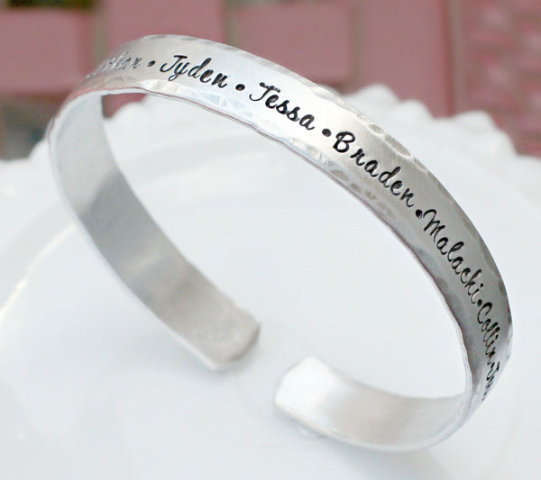 Best Gift for Mothers Day - Personalized Cuff Bracelet - Silver Cuff Bracelet - Personalized Bracelet - Cuff Bangle - Gift for Her
