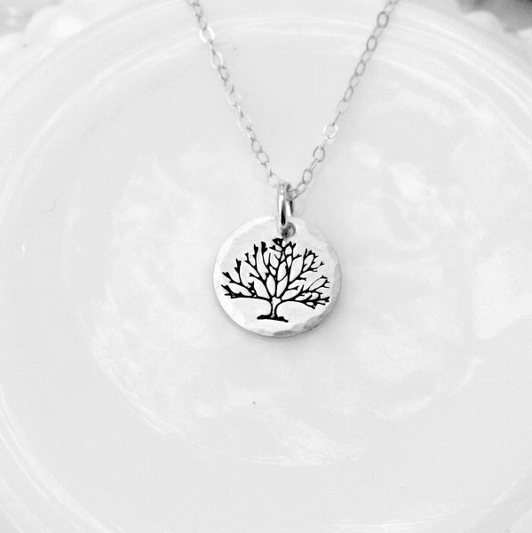 Small Tree Charm Necklace - Tree of Life Necklace - Winter Tree Necklace - Nature Necklace