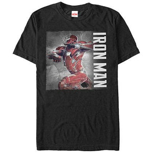 Iron Man PosterBlack Mens T-Shirt