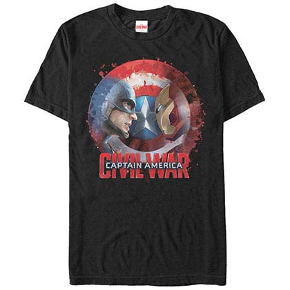 Captain America: Civil War Versus Black Mens T-Shirt