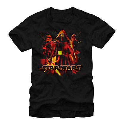 Star Wars Episode 7 Triglow Black T-Shirt
