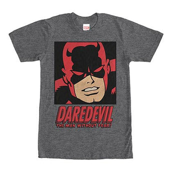 Daredevil Man Without Fear Gray Mens T-Shirt