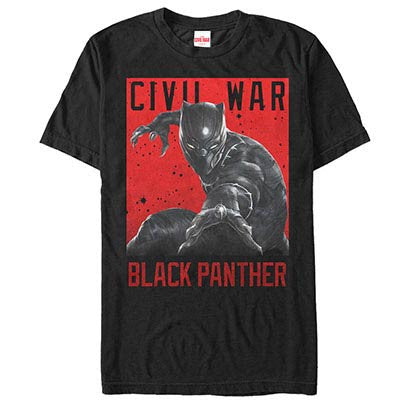 Captain America: Civil War Cat Attack Black Mens T-Shirt