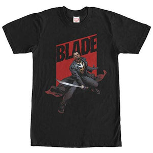 Marvel Teams Blade Rage Black Mens T-Shirt