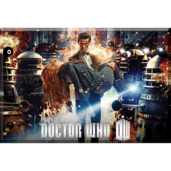 Doctor Who Flames Magnet