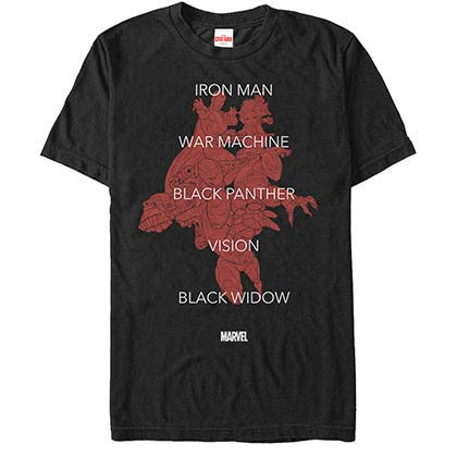 Iron ManTeam Tonal Black Mens T-Shirt