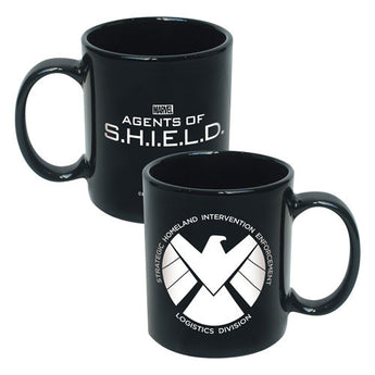 Agents of SHIELD Logo 20 oz. Black Ceramic Mug