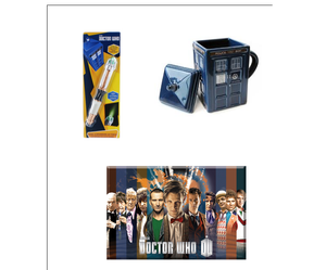 Bundle Doctor Who Mug Sonic Screwdriver Flashlight And All The Doctors Magnet