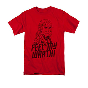 Star Trek Feel My Wrath Red Khan Tee Shirt