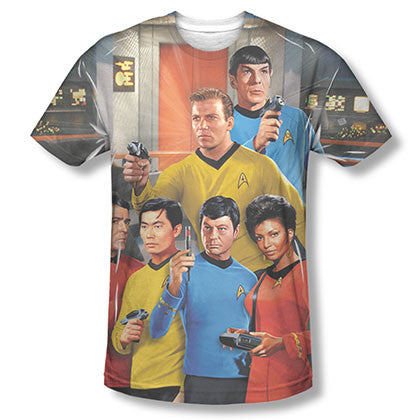 Star Trek TOS Bridge Sublimation T-Shirt
