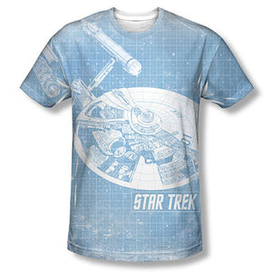 Star Trek Enterprise Blueprint Sublimation T-Shirt