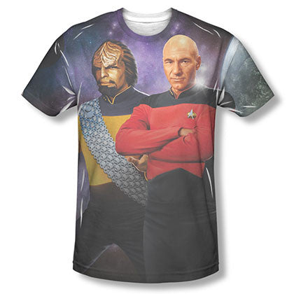 Star Trek TNG Worf Picard Sublimation T-Shirt