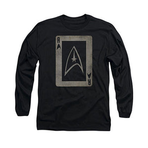 Star Trek TOS Ace Black Long Sleeve T-Shirt