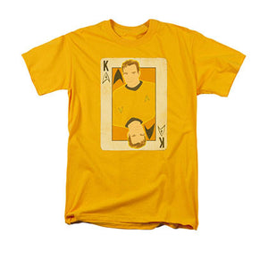 Star Trek TOS Kirk King Card Yellow T-Shirt