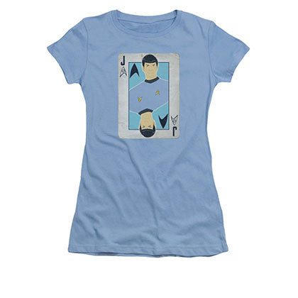Star Trek TOS Spock Jack Blue Juniors T-Shirt