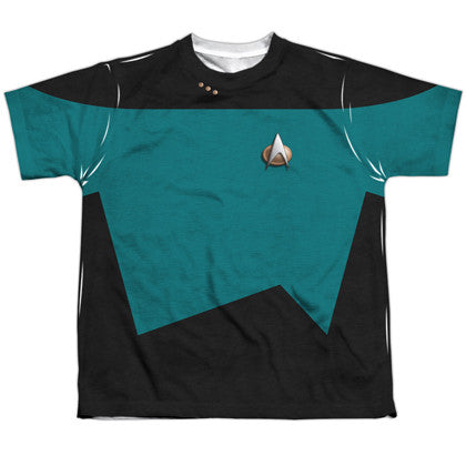 Star Trek Next Generation Teal Youth Costume Tee