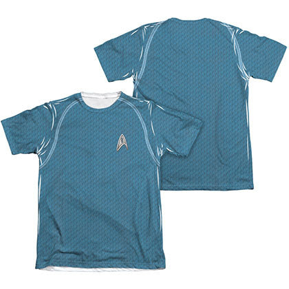 Star Trek Movie Science Blue Two-Sided Costume Sublimation T-Shirt