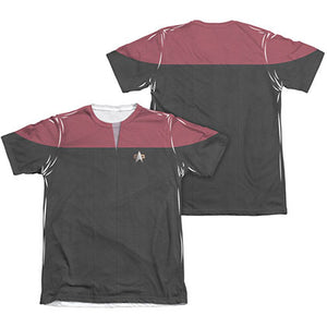 Star Trek Voyager Command Red Two-Sided Costume Sublimation T-Shirt