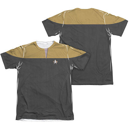 Star Trek Voyager Engineering Gold Two-Sided Costume Sublimation T-Shirt