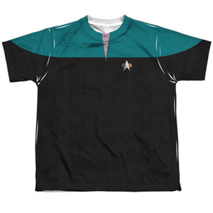Star Trek Voyager Teal Youth Costume Tee