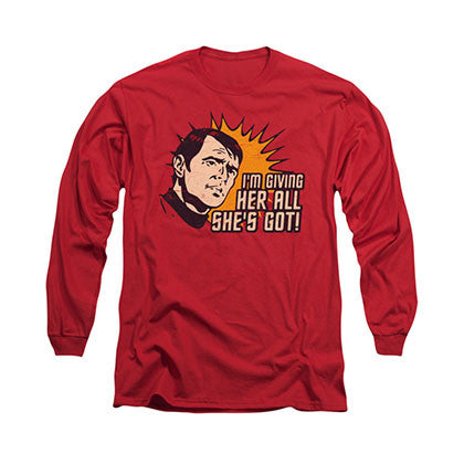Star Trek All She's Got Red Long Sleeve T-Shirt
