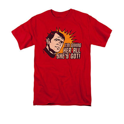 Star Trek Scotty Giving Her All She's Got Red T-Shirt