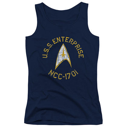 Star Trek Collegiate Blue Juniors Tank Top