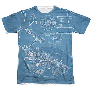 Star Trek Enterprise Plans Sublimation T-Shirt