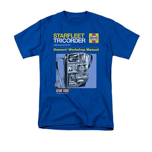 Star Trek Live Tricorder Manual Blue T-Shirt
