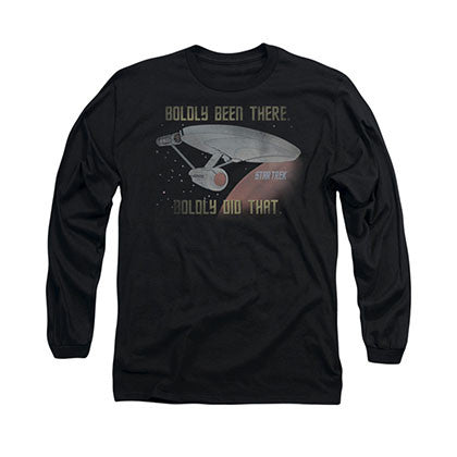 Star Trek Boldly Did That Black Long Sleeve T-Shirt