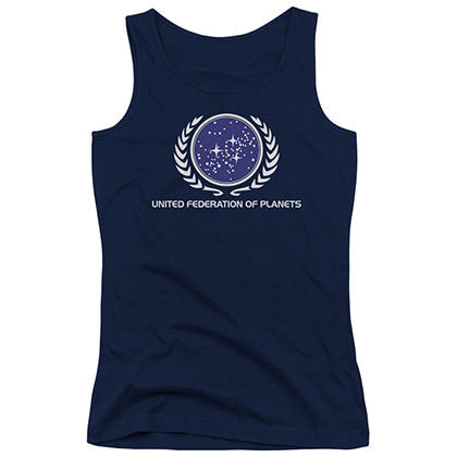 Star Trek United Federation Blue Juniors Tank Top
