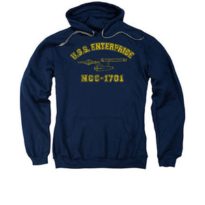 Star Trek USS Enterprise Blue Pullover Hoodie