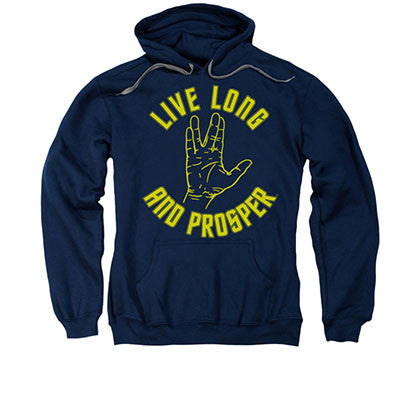 Star Trek Live Long And Prosper Blue Pullover Hoodie