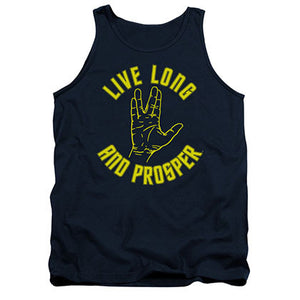 Star Trek Live Long And Prosper Blue Tank Top