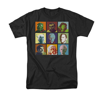 Star Trek Alien Squares Black Tee Shirt