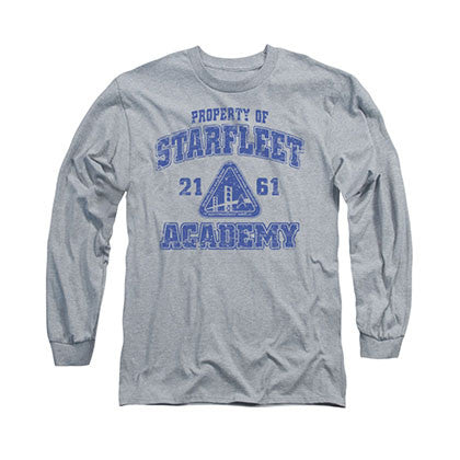 Star Trek Academy Old School Gray Long Sleeve T-Shirt